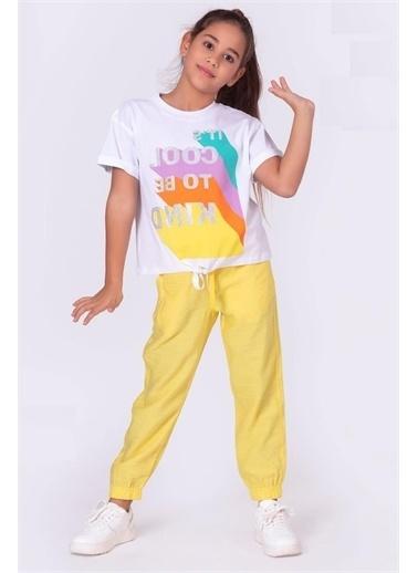Riccotarz Kız Çocuk Cool Önden Bağlamalı Alt Üst Takım Sarı